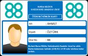Çift Logolu Numaralı Öğrenci Kimlik Kartı (RFID)