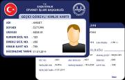 Diyanet İşleri Bakanlığı Geçici Personel Kimlik Kartı (Plastik)