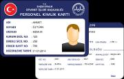 Diyanet İşleri Bakanlığı Merkez Personel Kimlik Kartı (Plastik)