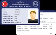Diyanet İşleri Bakanlığı Taşra Personel Kimlik Kartı (Plastik)
