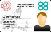 Sicil Nolu MEB Personel Kimlik Kartı (RFID)